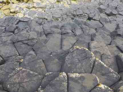 Up-close look at the basalt lava rock formations