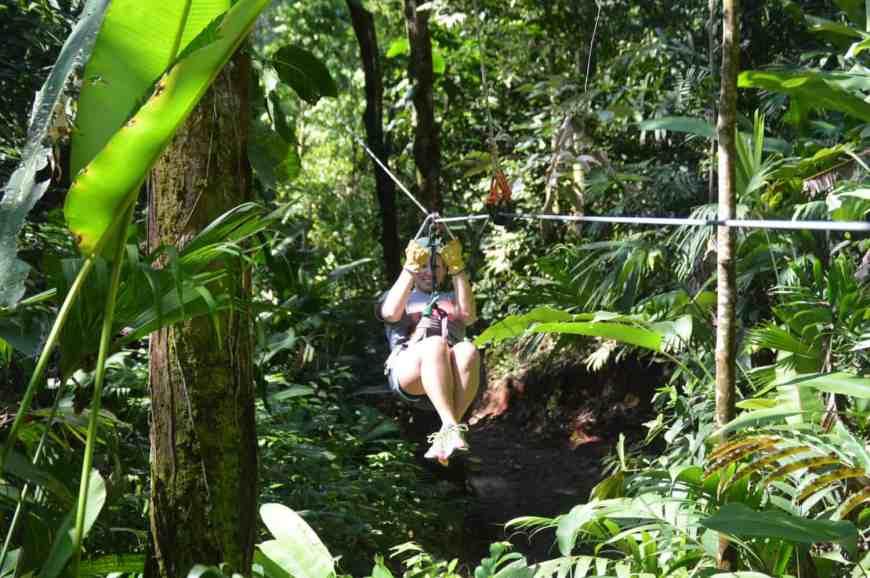 Ziplining in Costa Rica is a must-do adventure