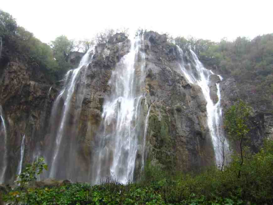 Plitvice Lakes National Park in Croatia...the big daddy waterfall