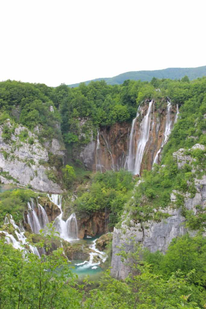 Plitvice Lakes National Park has countless waterfalls and 16 cascading lakes