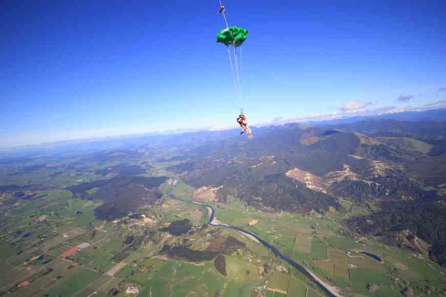 Crossed off the bucket list: skydive in New Zealand