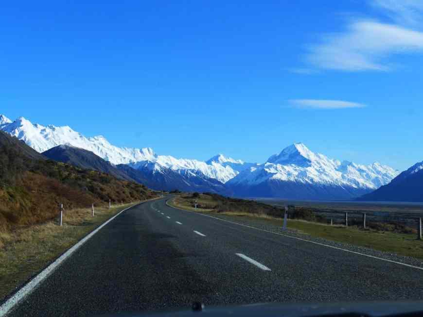 The drive from Tekapo to Mt. Cook/Aoraki