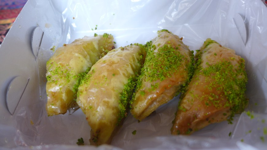 Baklava and coffee on a walking food tour in Istanbul