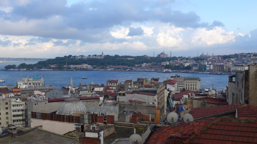 Our apartment in Istanbul had an amazing view