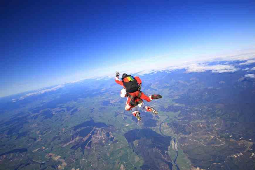 Skydiving in New Zealand's South Island, Motueka