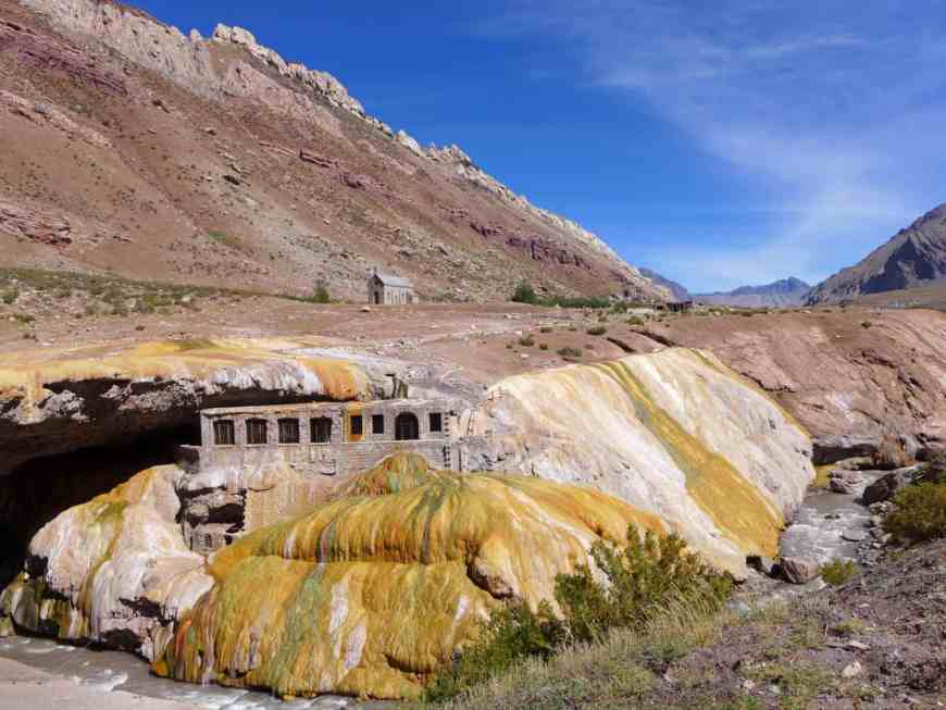 Puente del Inca, a stop on our tour of the Andes outside Mendoza