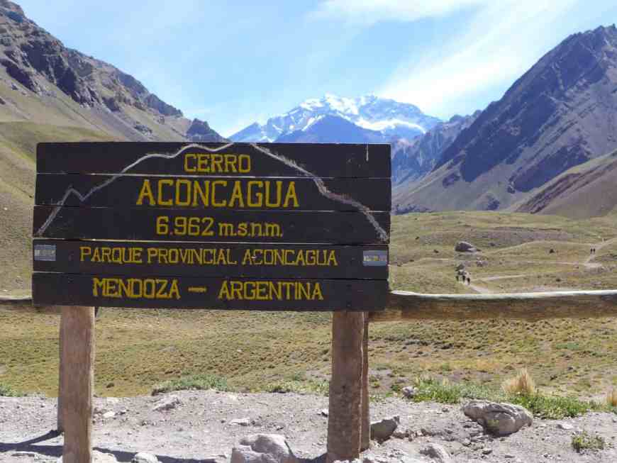 Cerro Aconcagua, outside Mendoza in the Andes, is the highest mountain outside the Himalayas