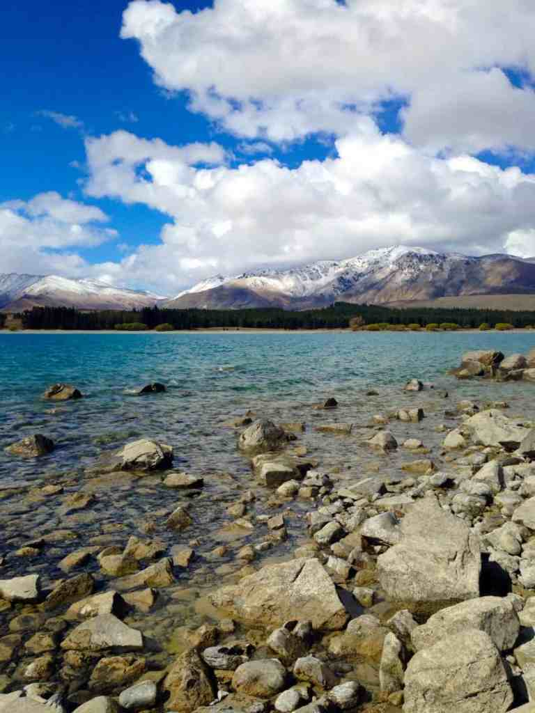 Lake Tekapo's stunning water and mountain backdrop...this are is a must-visit if you're in the South Island. Make sure not to miss Mt. Cook/Aoraki nearby and stargazing in the Dark Sky Reserve.