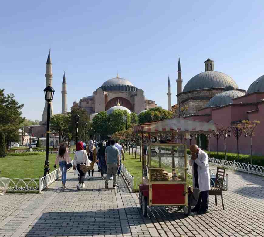 Amazing view of Hagia Sophia...tips for how to see everything major with 24 hours in Istanbul   itinerary ideas for what to do in Istanbul   what to see & what to skip   Istanbul trip planning, itinerary ideas for Istanbul   Turkey itinerary advice