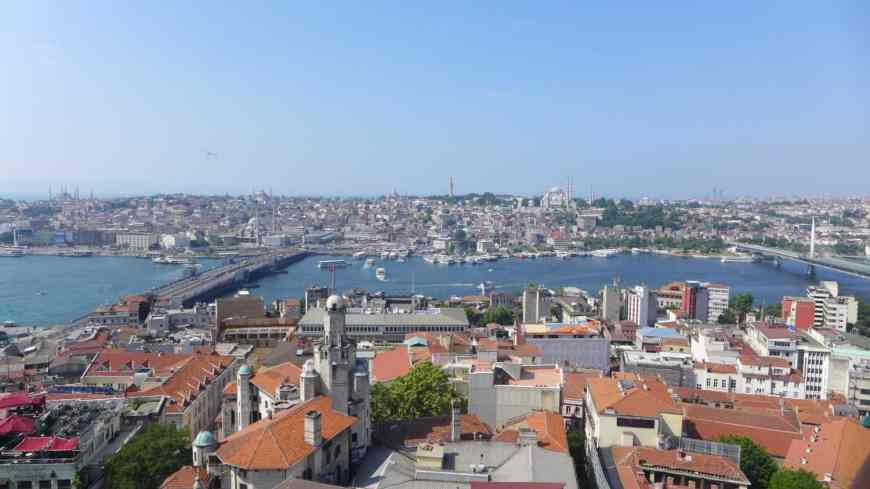 View from Galata Tower...tips for spending 24 hours in Istanbul, how to see everything, where to go, what to skip   itinerary ideas for Istanbul   Istanbul trip planning, itinerary ideas for Istanbul
