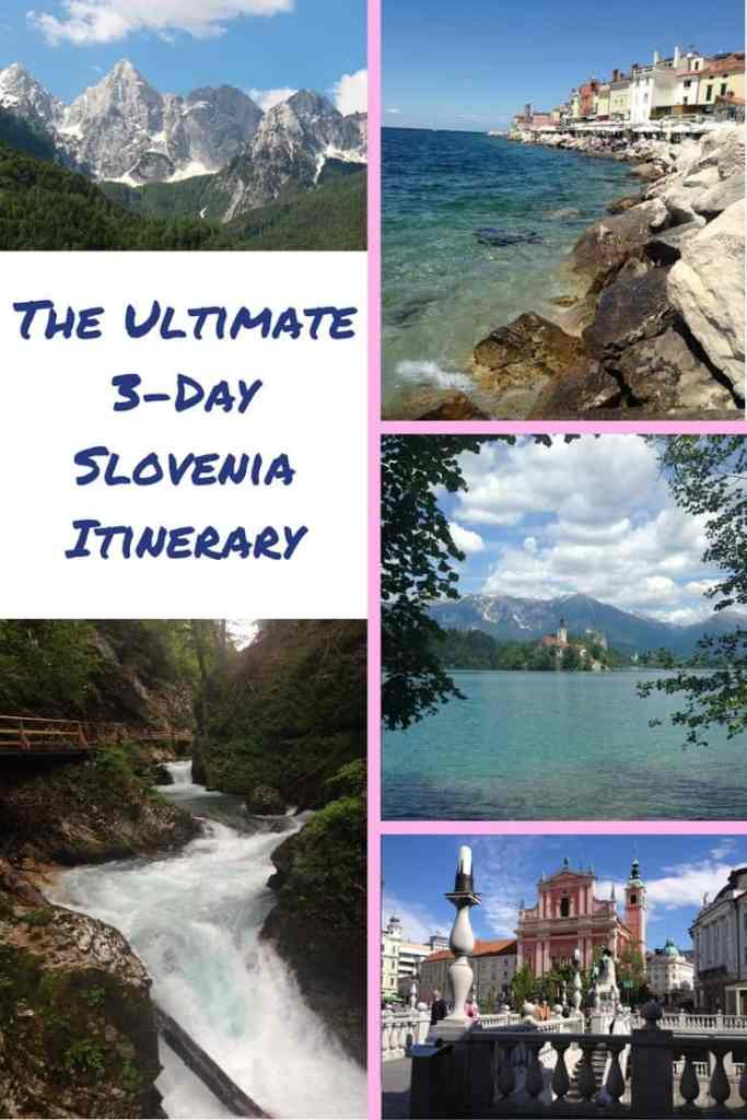 A perfect 3-day Slovenia itinerary and what to do in Slovenia. Slovenia is perfect paired with surrounding countries, compact, & easy to see a ton of natural beauty, history, & culture. Recommendations on Ljubljana, the Julian Alps, Lake Bled, Piran, and more! #slovenia #easterneurope #lakebled