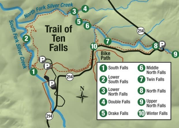 Image result for trail of ten falls map