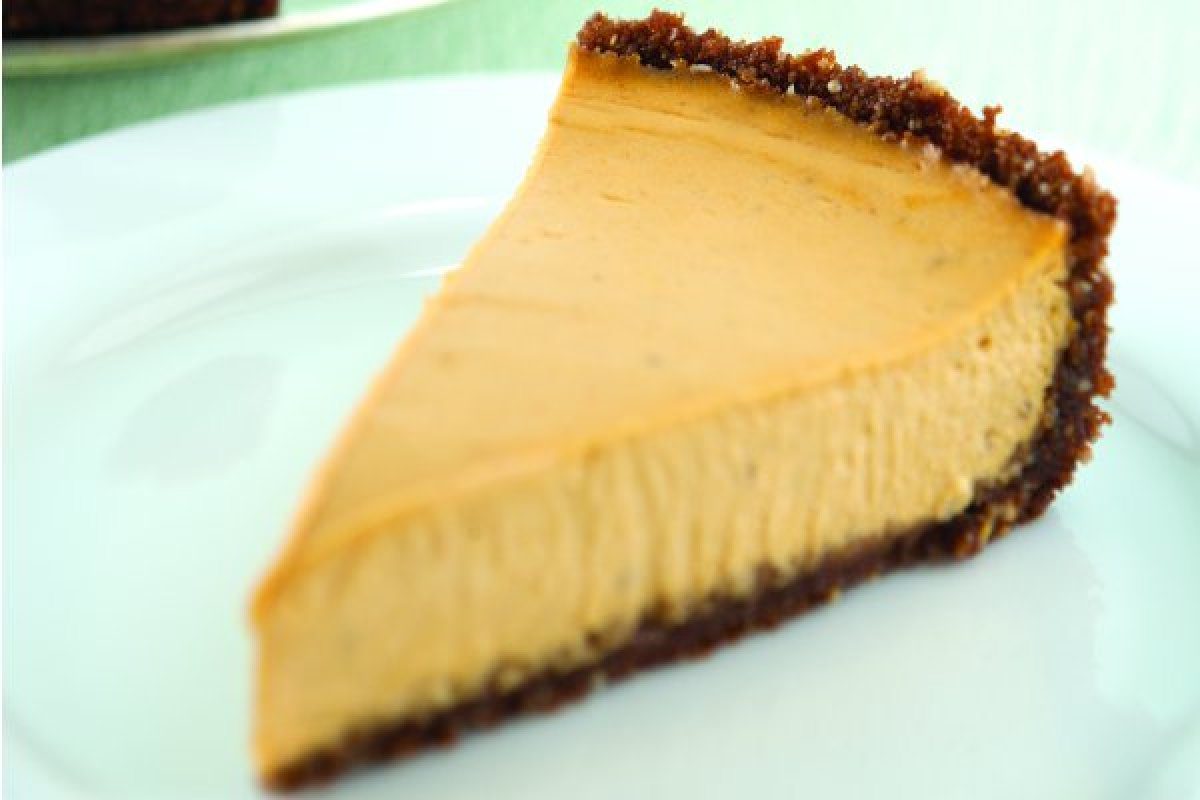 Pumpkin Cheesecake with a Gingersnap Crust