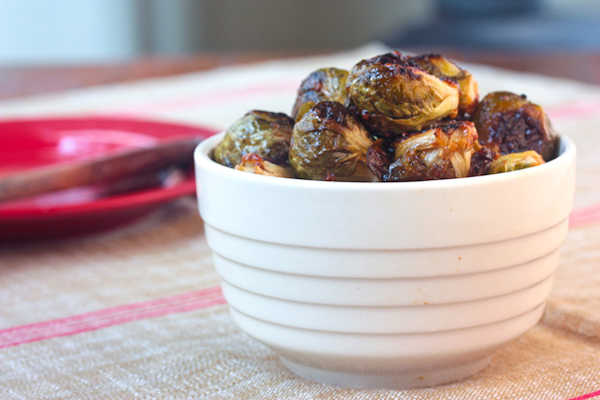 Recipe: Roasted Brussels Sprouts With Sherry-Maple Vinaigrette