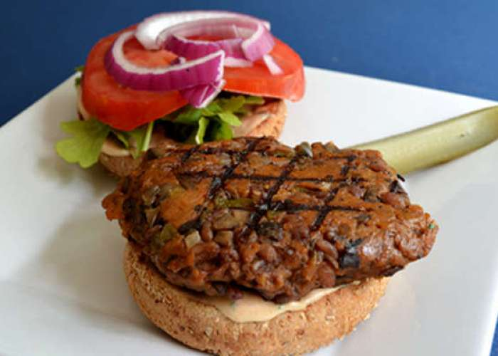 Mushroom Barley Grillers: A Burger and Beer Pairing