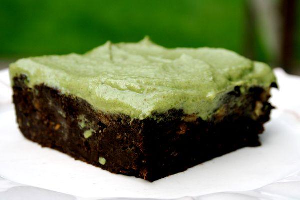 Recipe: Mint Carob Walnut Brownies