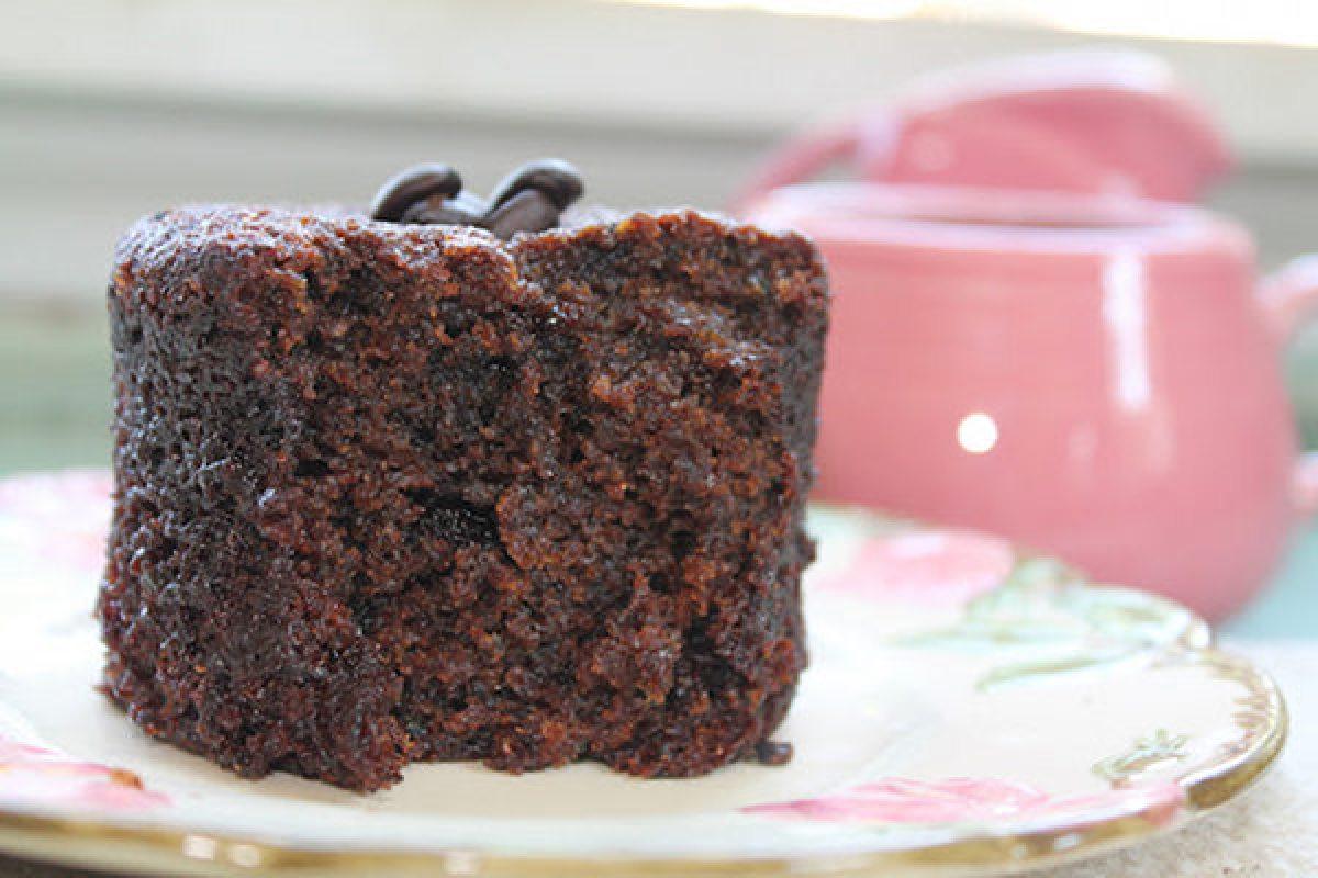 Individual Chocolate Espresso Cake with Zucchini!