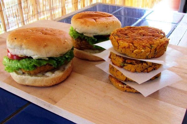 white bean sweet potato burgers