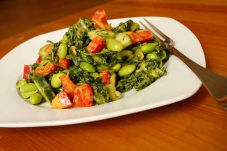 creamy avocado mesquite dressing kale