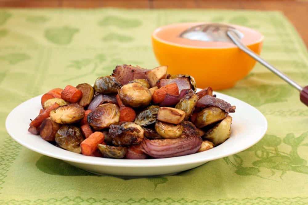 Pomegranate-Balsamic-Roasted-Vegetables