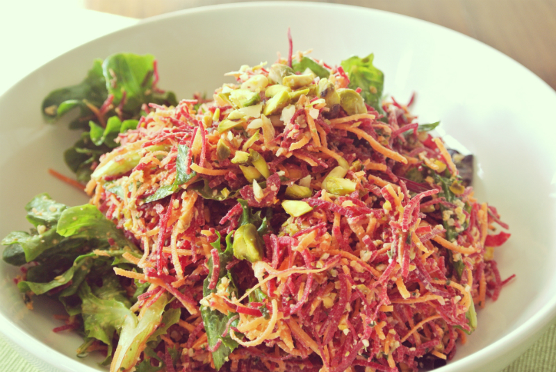 Carrot-Beet-Angel-Hair-Pasta-with-Spicy-Pine-Nut-and-Pistachio-Pesto