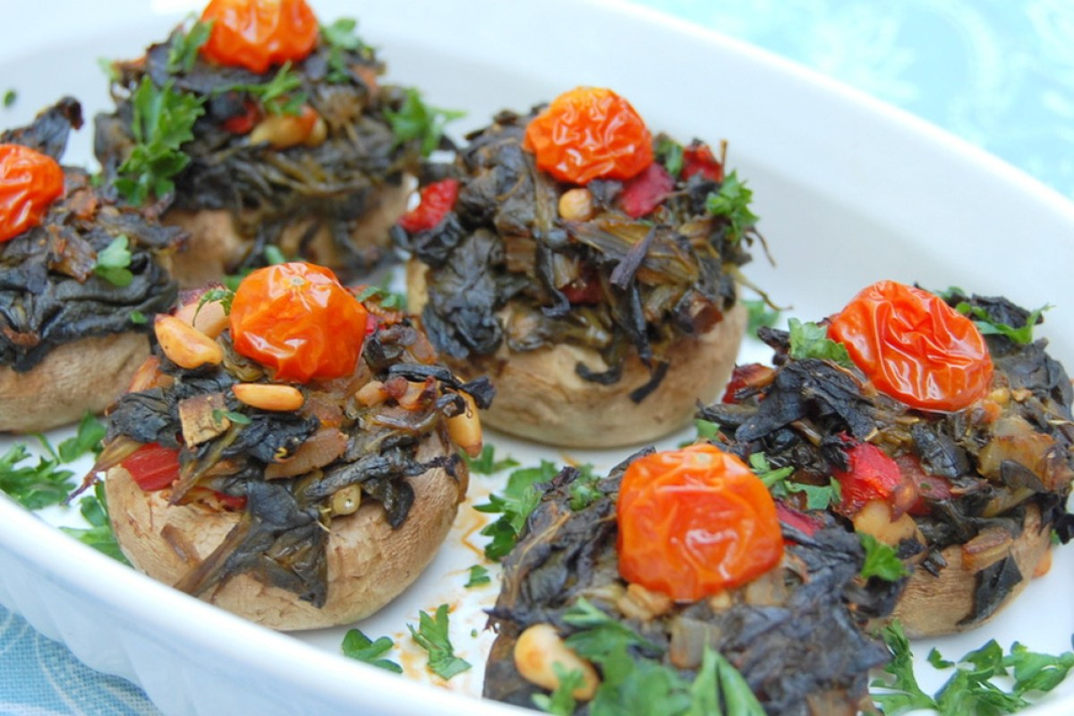 Stuffed-Spinach-Mushrooms