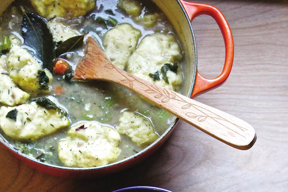 Rosemary Chicklins and Dumplins Stew [Vegan]