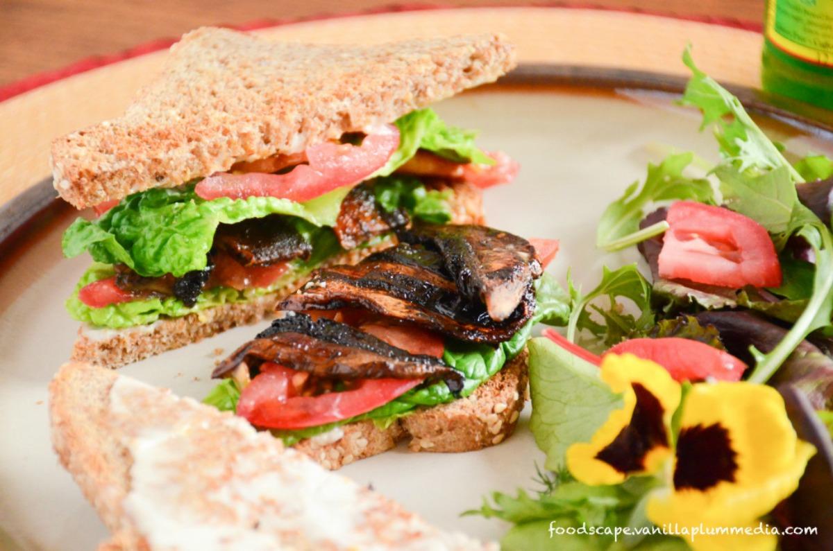 Portobello Mushroom BLT Sandwich [Vegan]