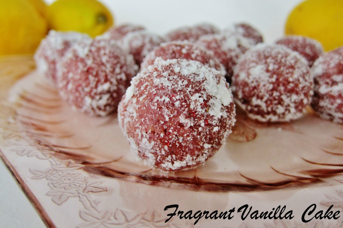 Raw Raspberry Lemon Doughnut Holes [Vegan, Gluten-Free]
