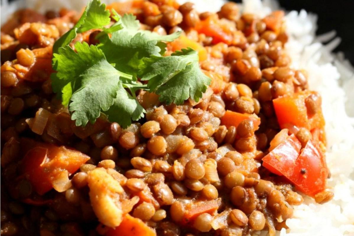 Masala Lentils (Sabut Masoor) [Vegan, Gluten-Free]