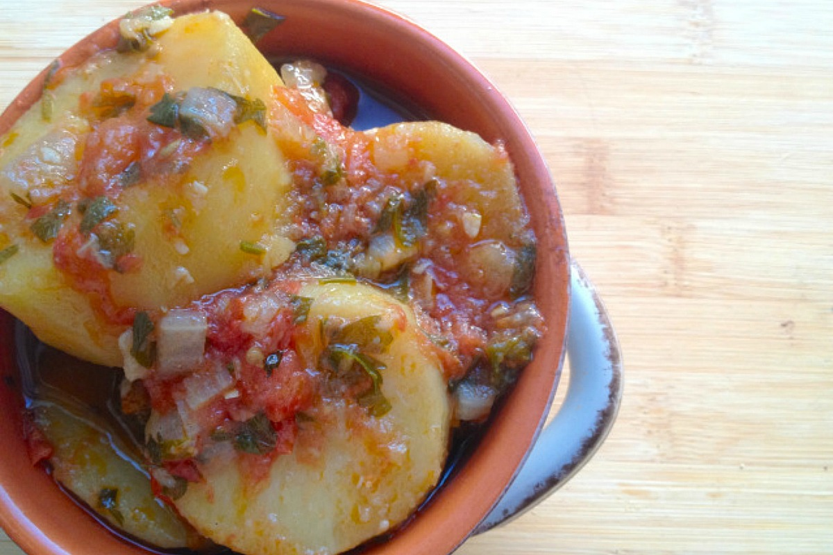 12 famous and traditional european dishes veganized one green planet greek potato stew patates yahni vegan gluten free forumfinder Images