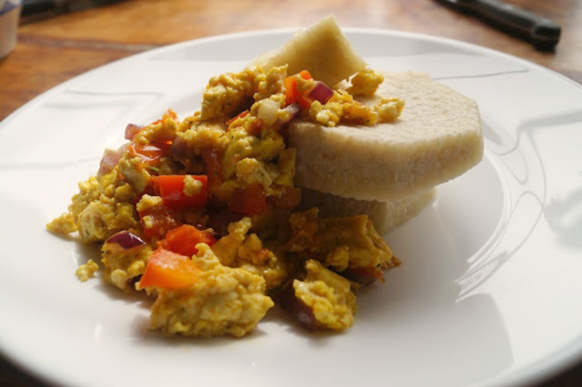 Nigerian Yam and 'Egg' [Vegan, Gluten-Free]