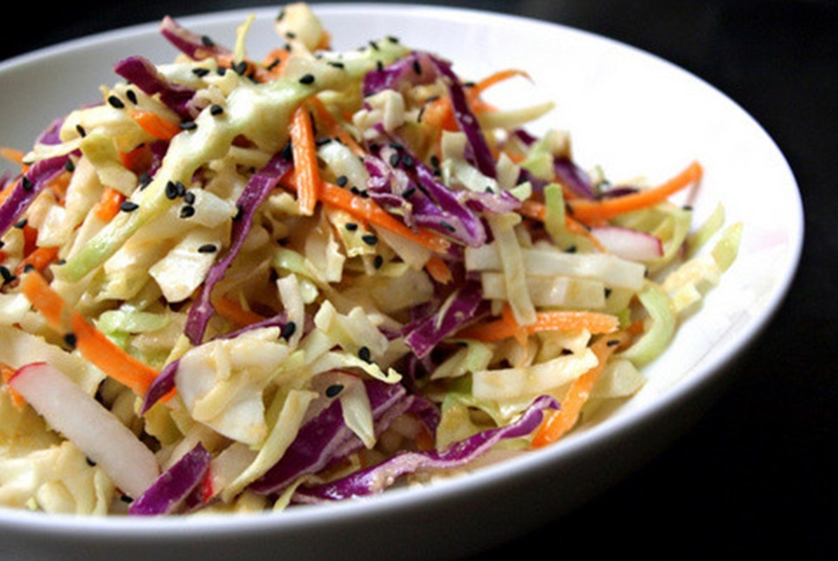 Asian-Slaw-Salad-+-Miso-Ginger-Dressing