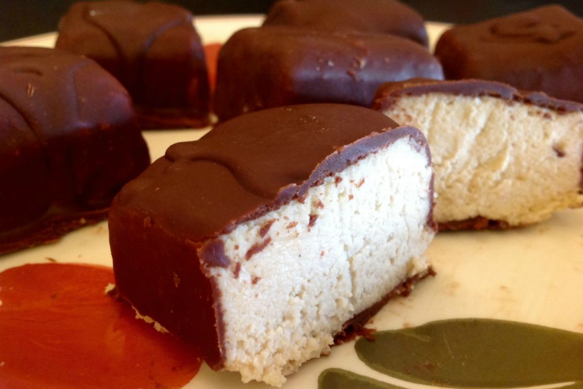 Chocolate Covered Cheesecake Bites [Vegan, Gluten-Free]