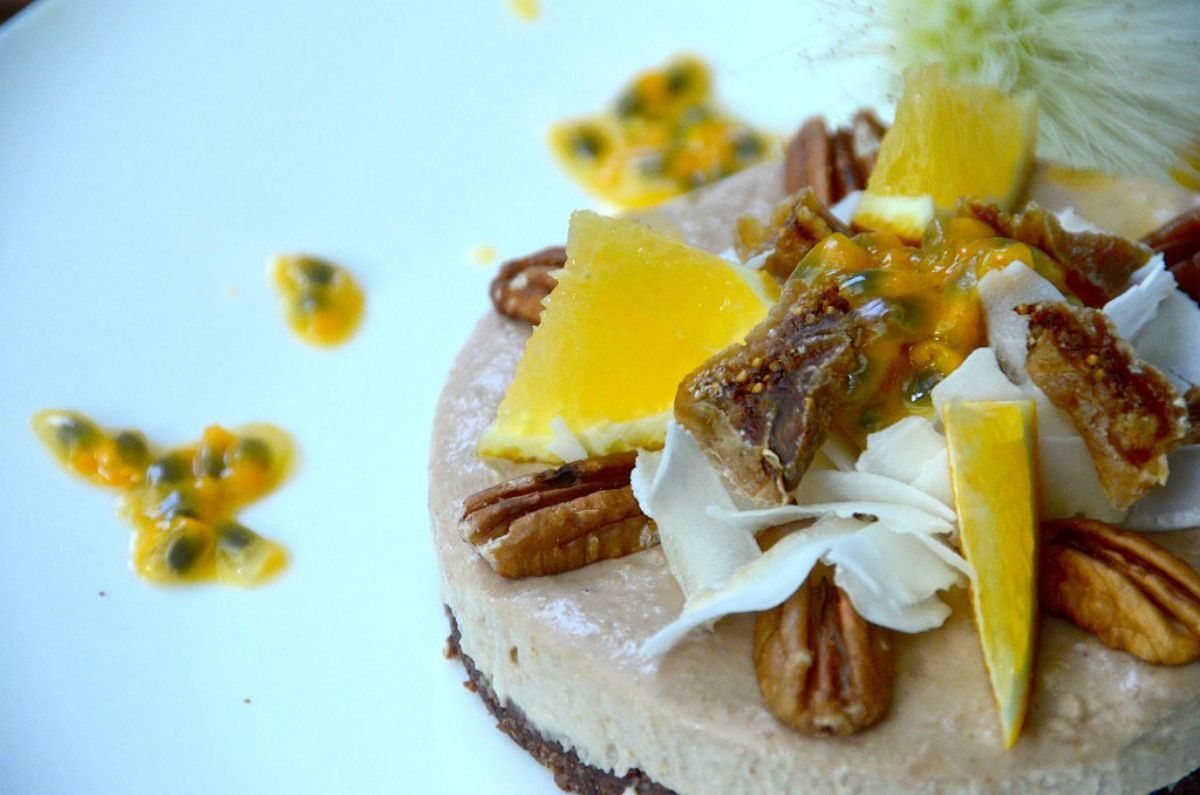 Orange, Fig and Baobab Cheesecake [Vegan, Raw, Gluten-Free]