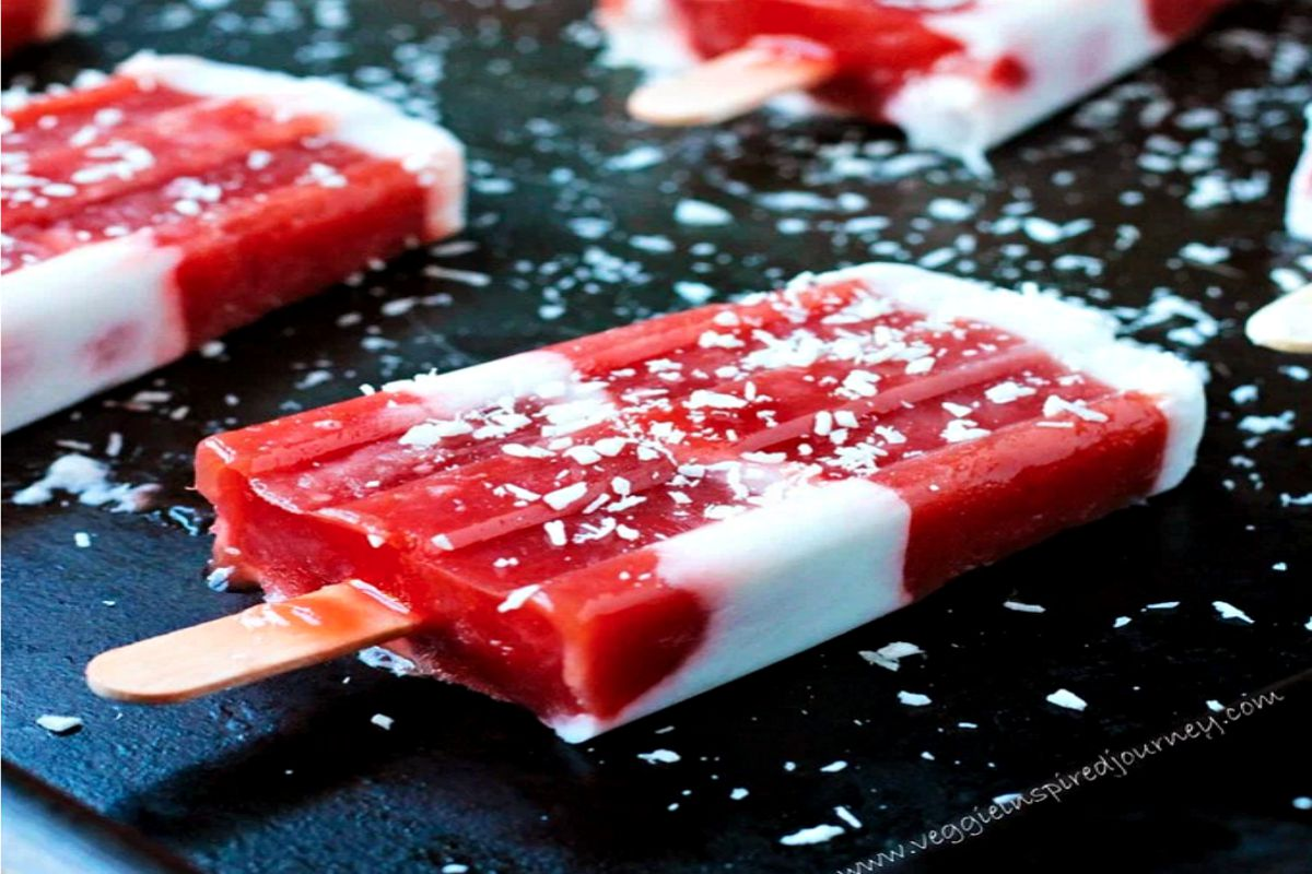 Strawberry-Rhubarb-Coconut Pops [Vegan, Gluten-Free]