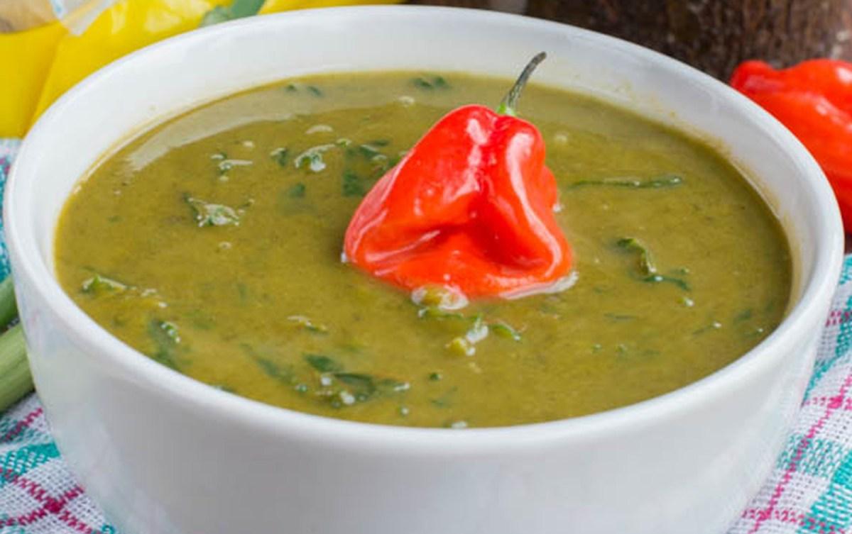 Caribbean Callaloo Soup [Vegan, Gluten-Free]