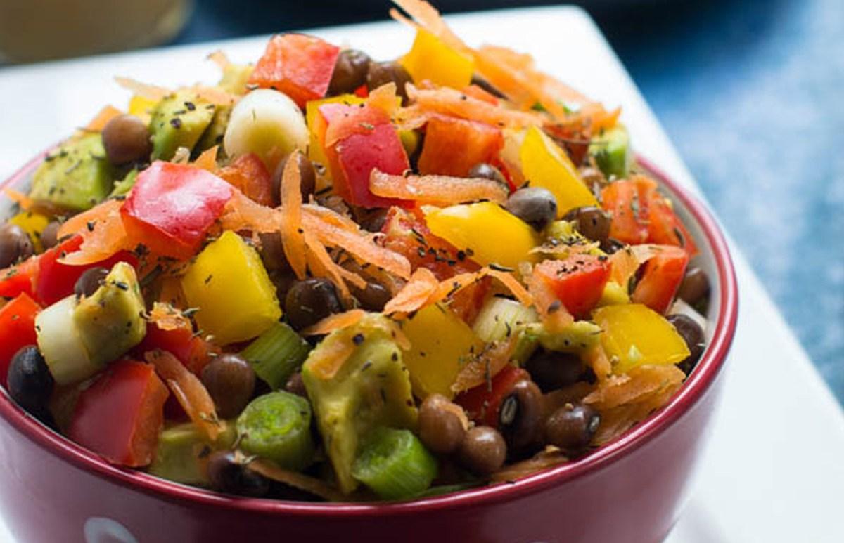 Pigeon Pea Salad (Gungo Peas) [Vegan, Gluten-Free]