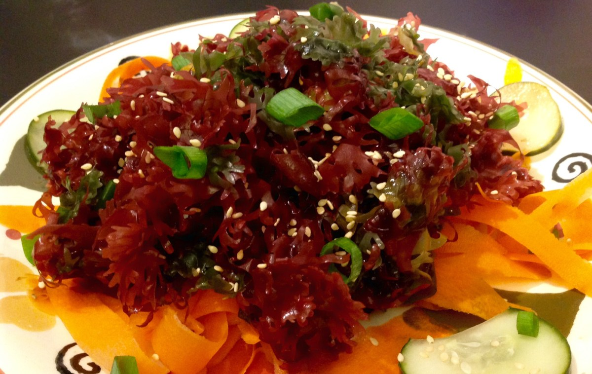 Seaweed Salad With Toasted Sesame Dressing [Vegan, Gluten-Free]
