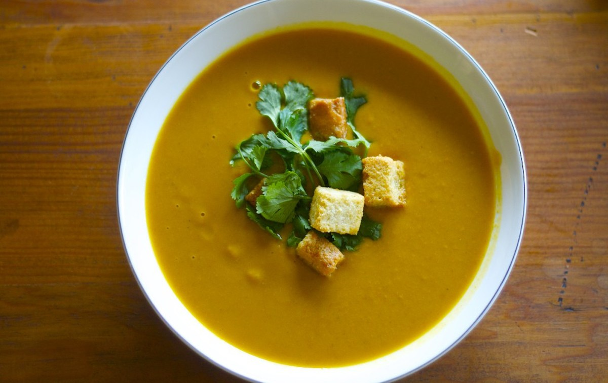 Sweet Potato Lentil Coconut Soup [Vegan, Gluten-Free]