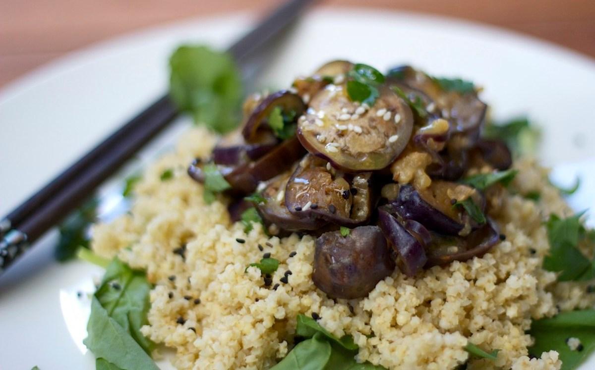 Miso Sesame Eggplant With Coconut Millet [Vegan, Gluten-Free]