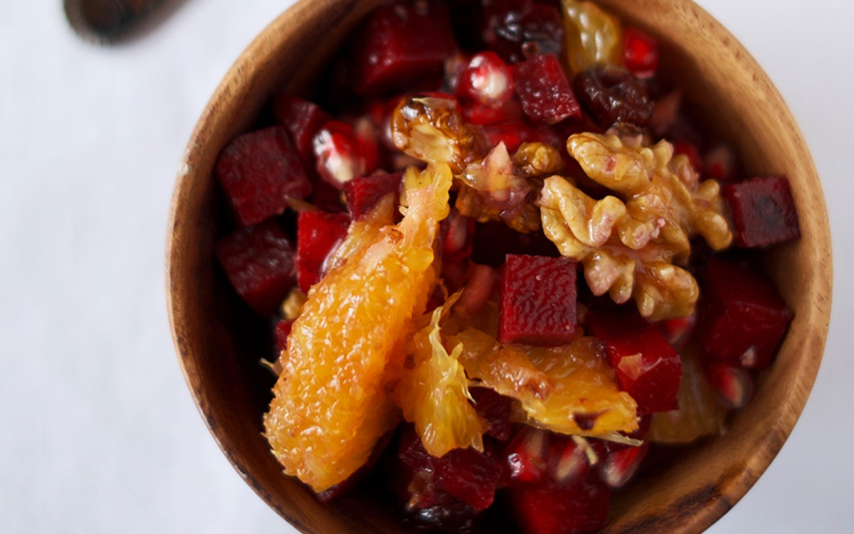 Citrus Walnut Beet Breakfast Bowl