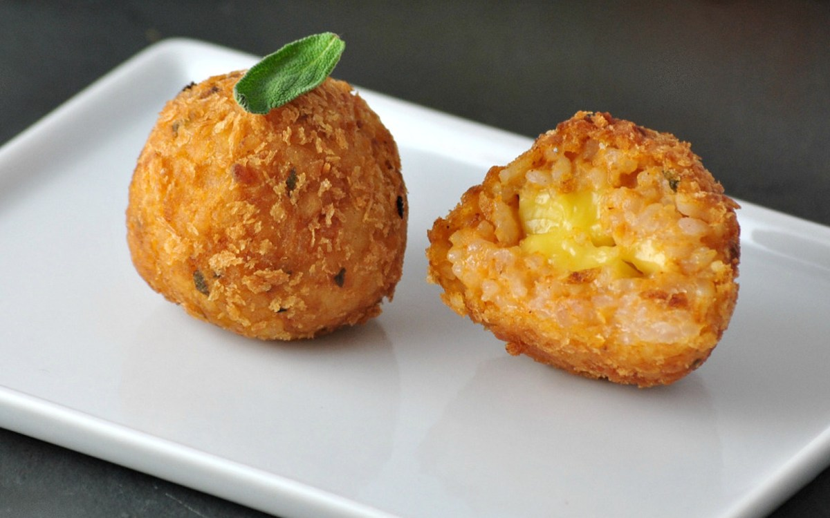 Pumpkin Sage Rice Balls