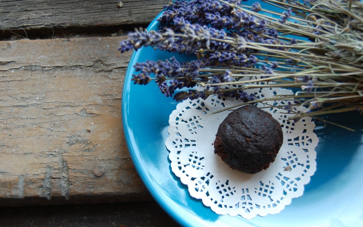 Lavender-Infused Cocoa-Dusted Truffles [Vegan, Gluten-Free]