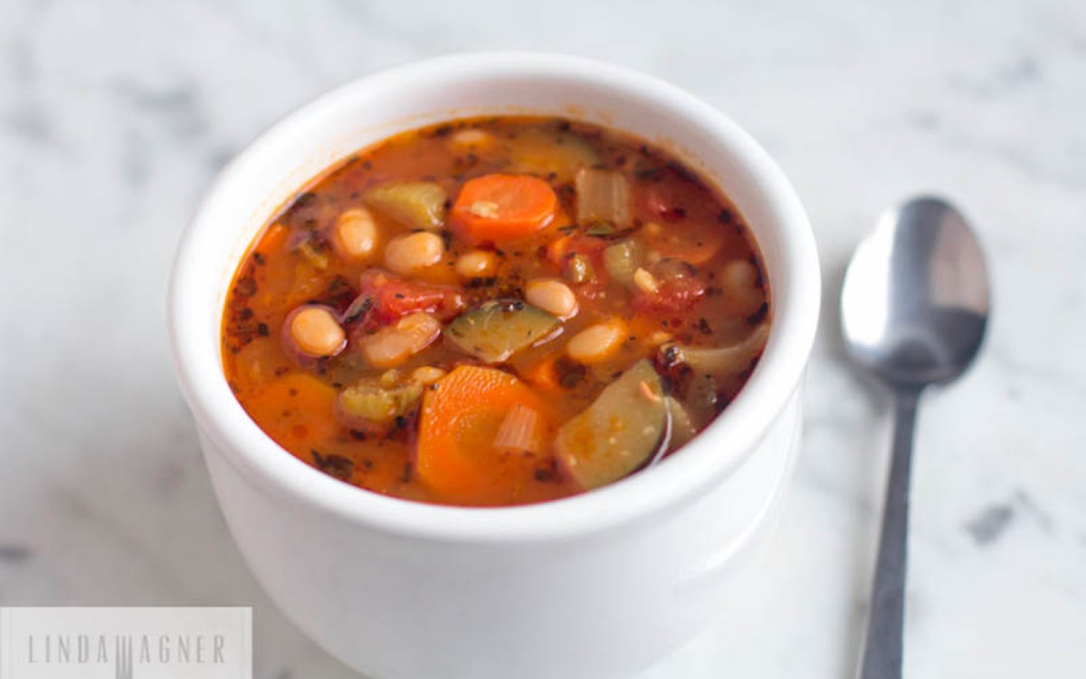 Easy Veggie and Cannellini Bean Soup
