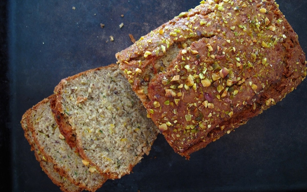 Grainy Quinoa, Brown Rice, and Almond Flour Zucchini Bread