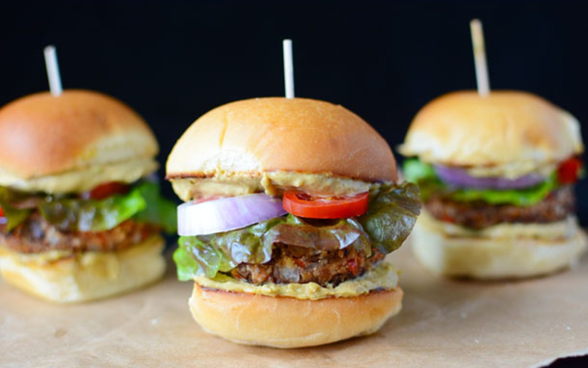 Black Soybean Sliders With Chipotle-Avocado-Lime Sauce
