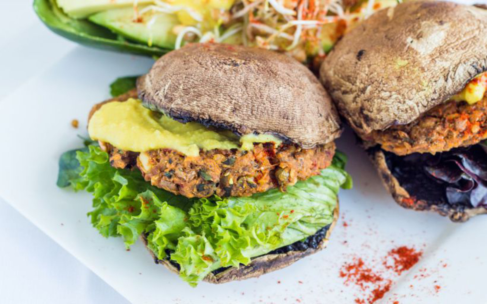 sprouted lentil and rice burgers