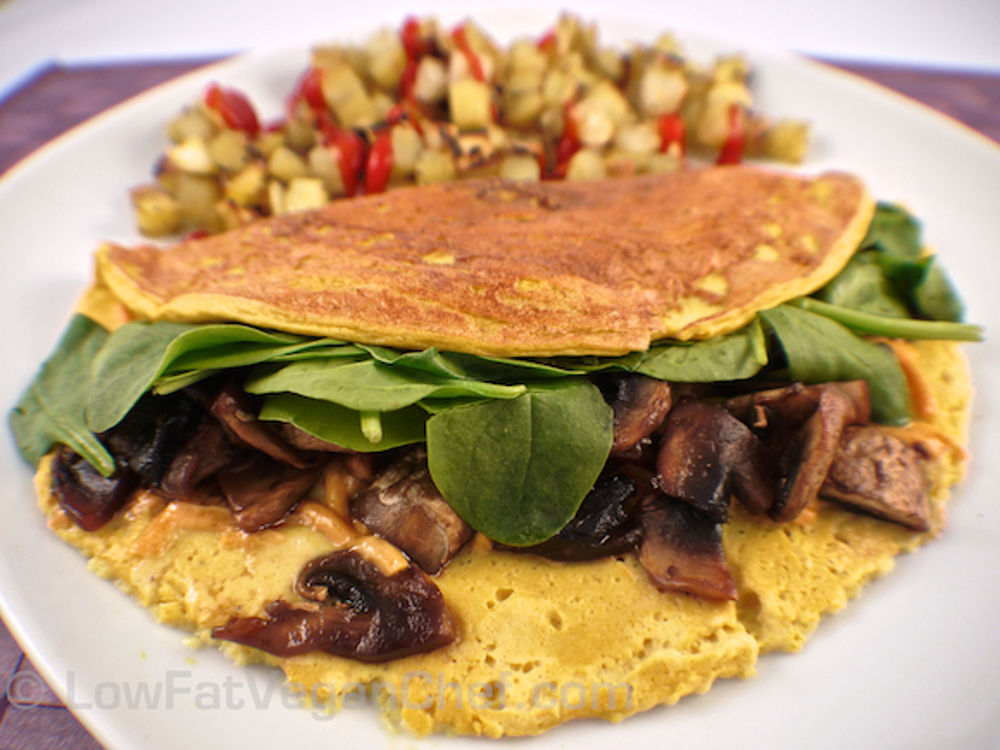 Low Fat Silken Tofu Omelet Vegan Gluten Free One Green Planet