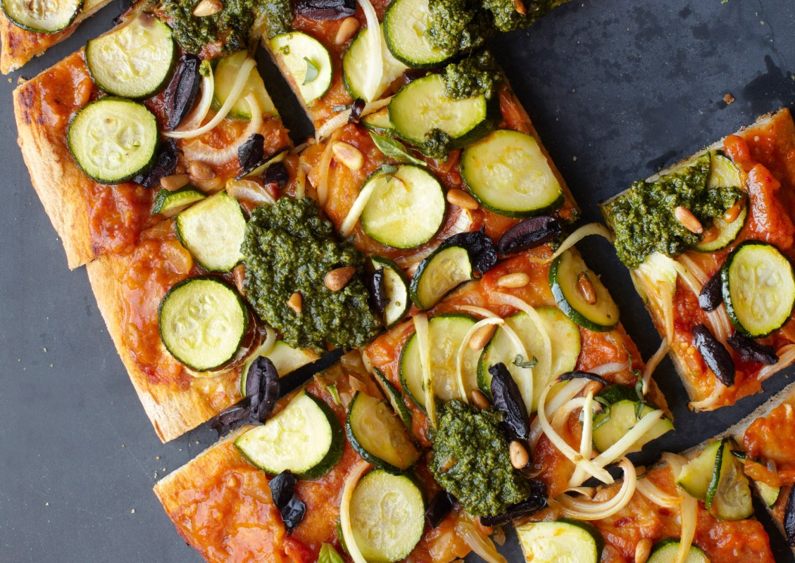 Vegan Summer Pesto Pizza